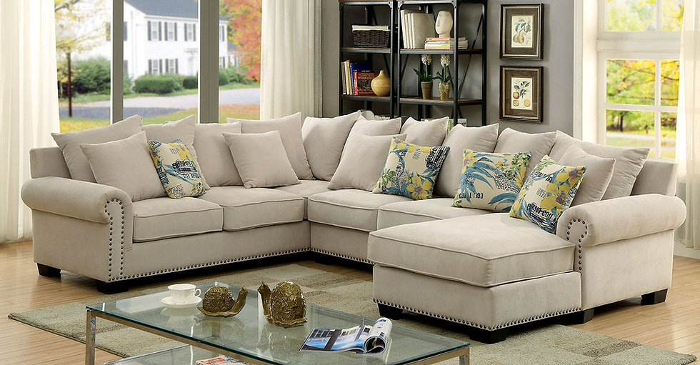 Mayleaf Nail Trim Sectional