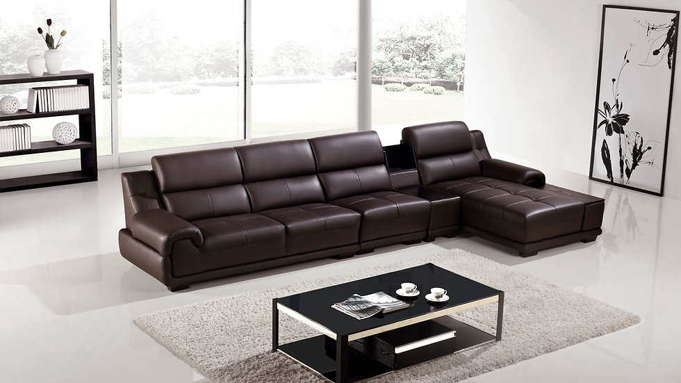 Veneto Leather Sectional