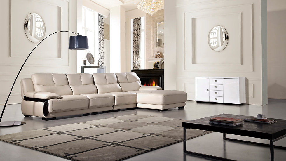 Pan Alley Leather Sectional