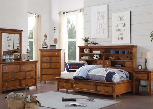 Modern Lacey Cherry Oak Youth Bedroom Set InStyle Furniture In 2018 - Elegant bedroom sets las vegas Luxury