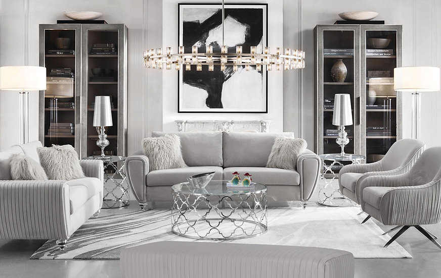 Silver Eclipse Sofa Set
