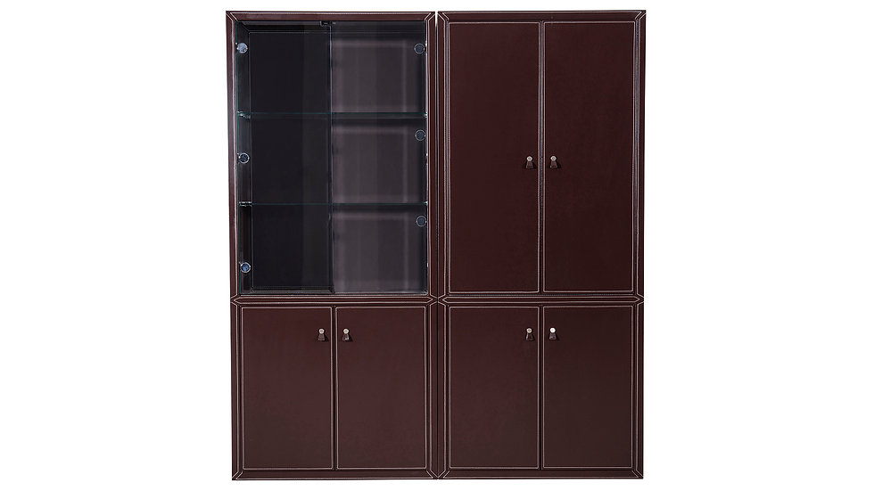 Central Park Executive Wall Shelf with Cabinets