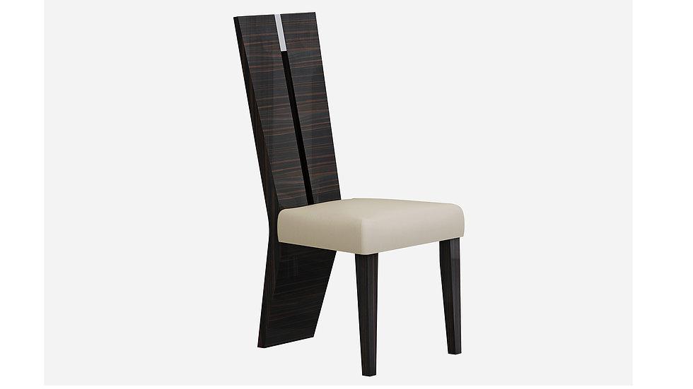 Ivory and Ebony Finish Dining Chair