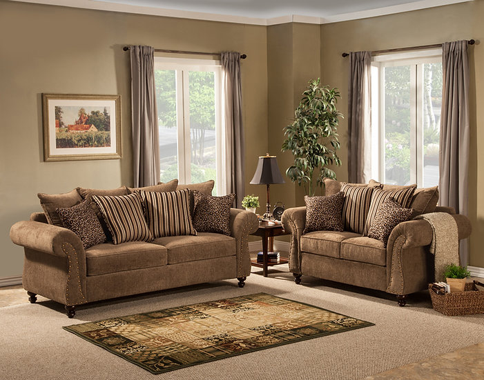 Holmes Fabric Sofa Set