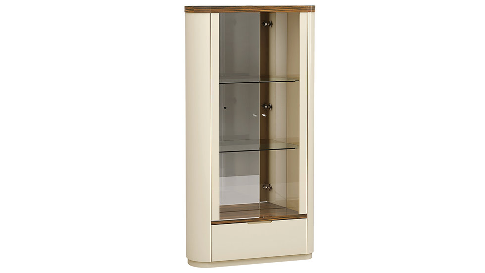 Rosewood Finish Vitrine