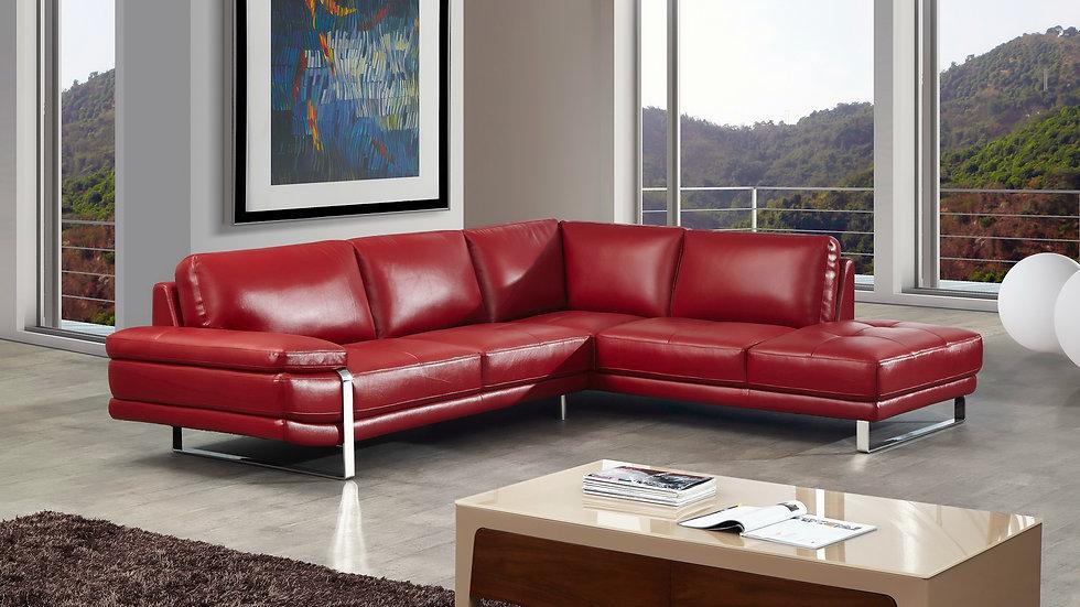 Strada III Leather Sectional