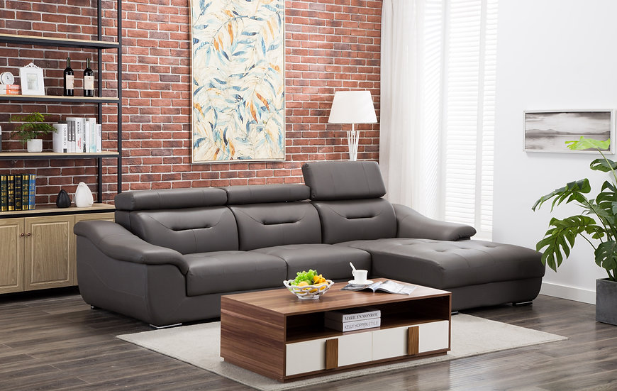 Adjustable Headrest Sectional
