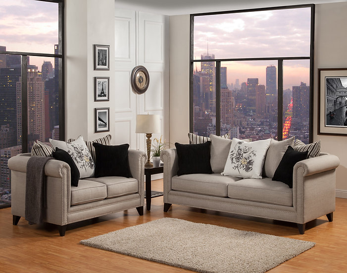 Monet II Fabric Sofa Set