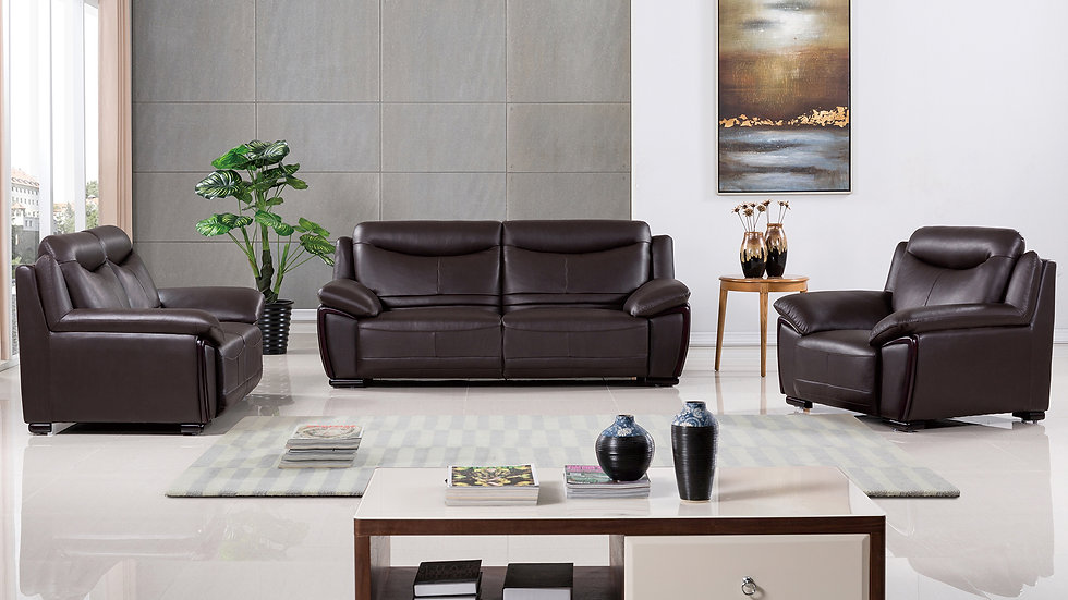 Redcliff Genuine Leather Sofa Set