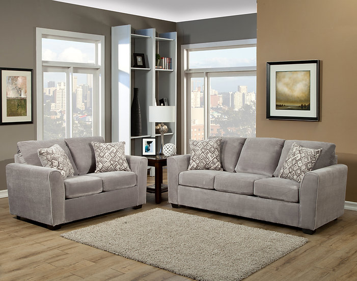 Najia I Fabric Sofa Set