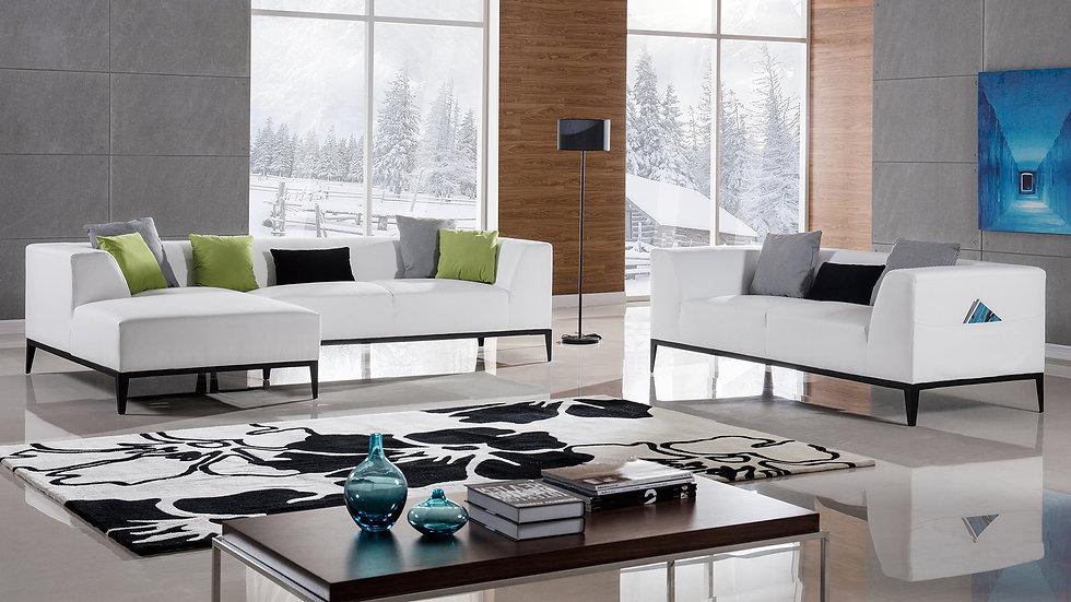 Haven White Sofa Set