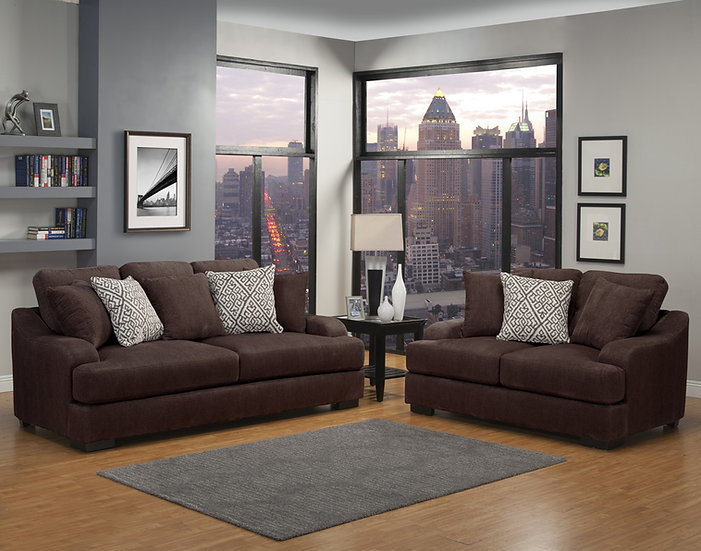 Points Peak II Fabric Sofa Set