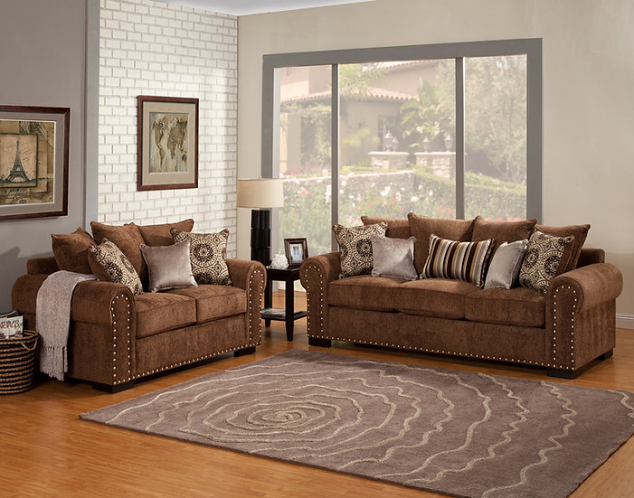 Woodland Grove Fabric Sofa Set
