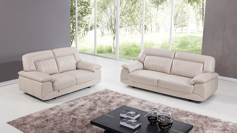 Crowley Genuine Italian Leather Sofa Set