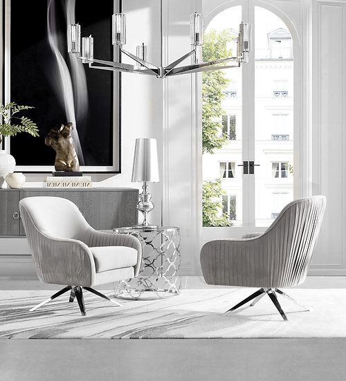 Silver Eclipse Accent Chairs