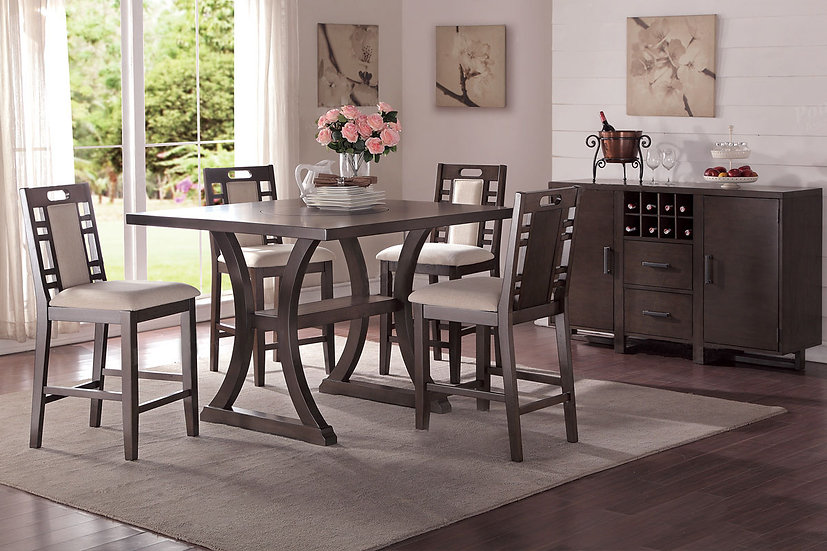 5pc Grey Dining Set
