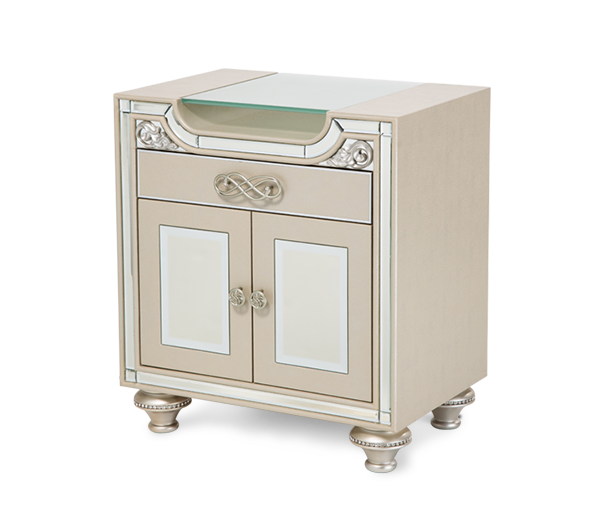 Bel Air Park Upholstered Nightstand Champagne