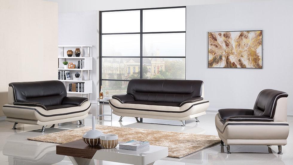 Brooke Whiteblack Sofa Set