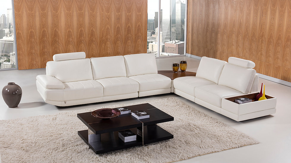 Suzette Leather Sectional