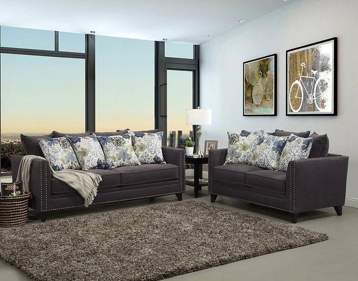 Uptown II Fabric Sofa Set