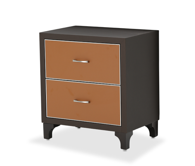 Orange/Black Nightstand