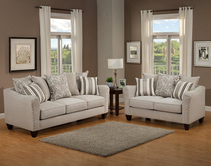 Justina II Fabric Sofa Set