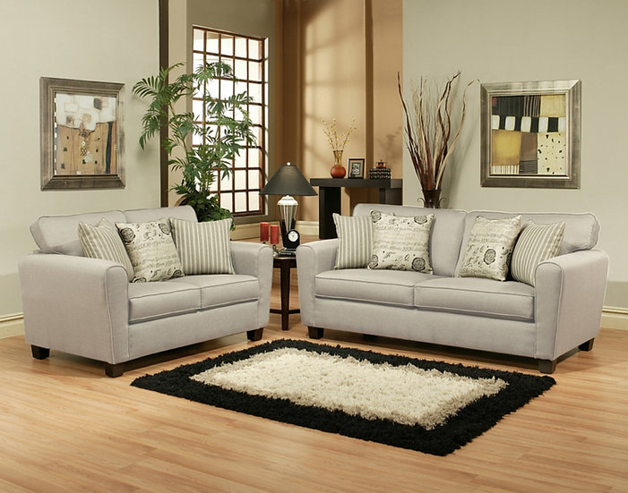 Crescent Fabric Sofa Set