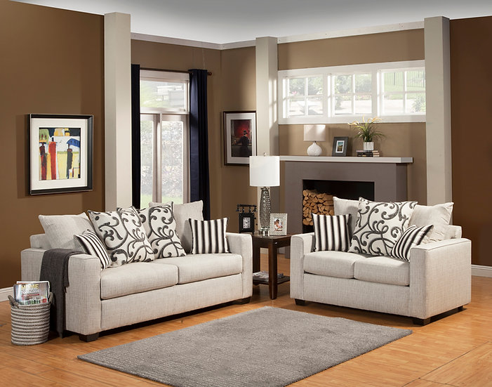 Stacey Fabric Sofa Set