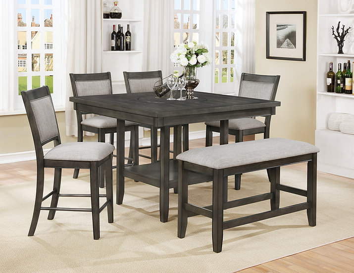 Grey 6pc Dining Set