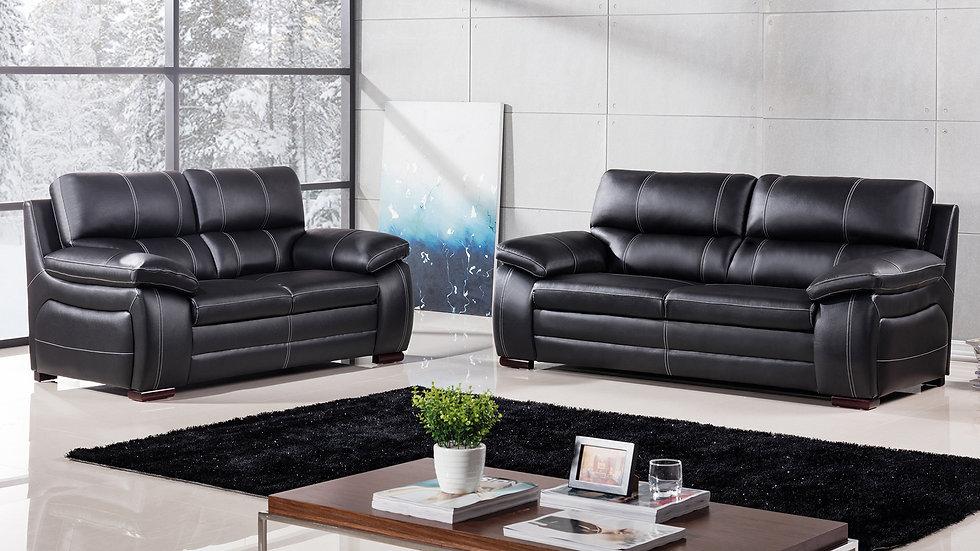 Collingwood Genuine Leather Sofa Set