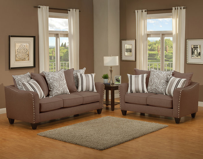 Justina I Fabric Sofa Set