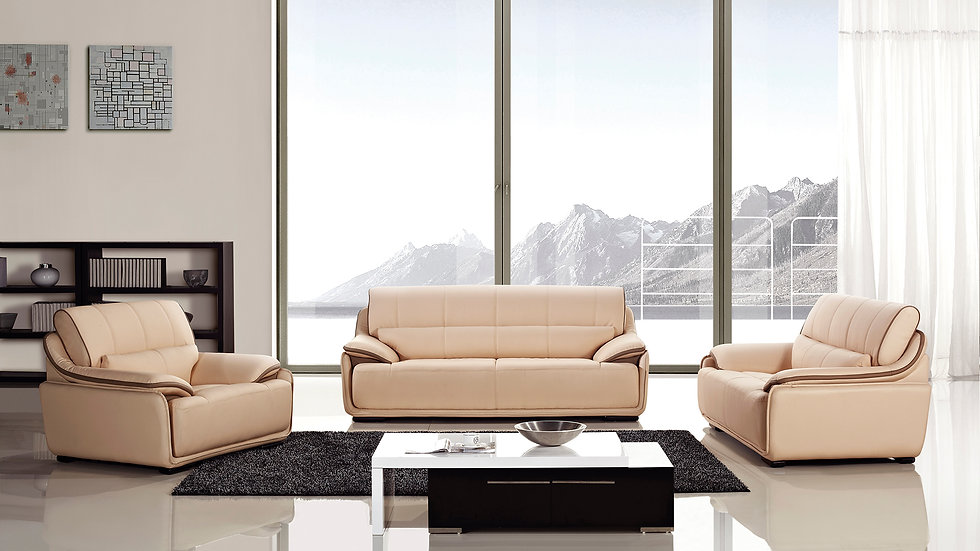 Bonneville Leather Sofa Set