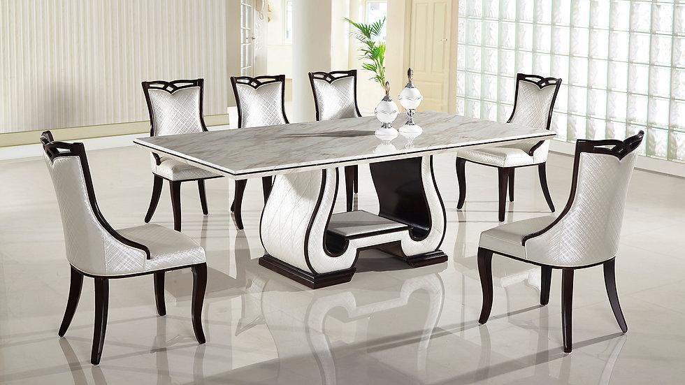 Goudi Corti 7pc Marble Dining Set