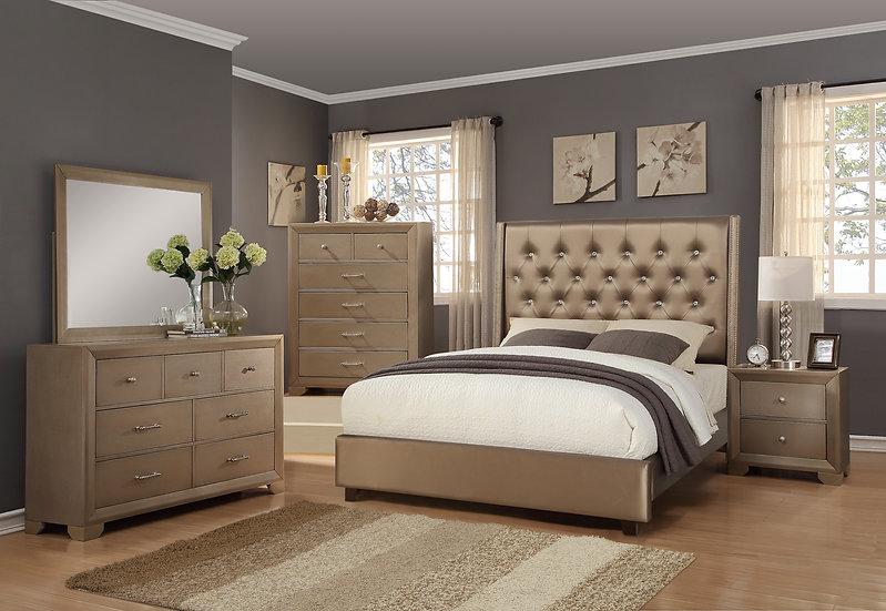 Fontana Gold King Bedroom Set