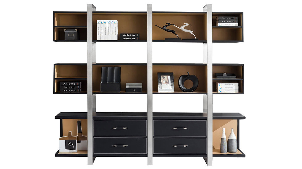 Downtown Executive Wall Shelf with Cabinets
