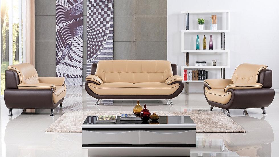 King Lake Genuine Leather Sofa Set