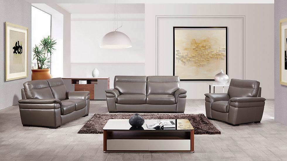 Broadwick Genuine Italian Leather Sofa Set