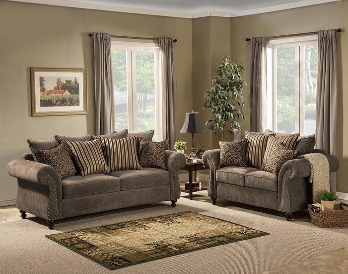 Holmes III Fabric Sofa Set
