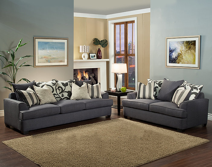 Jackie II Fabric Sofa Set