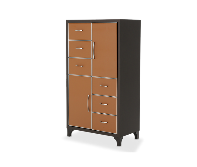 6 Drawer Chest Diablo Orange/Umber