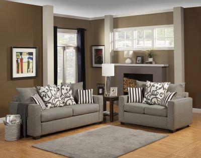 Mystic River II Fabric Sofa Set