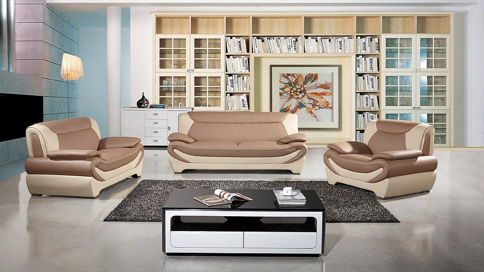 Parry Tan/Brown Sofa Set