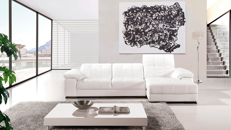 Park Ave Leather Sectional