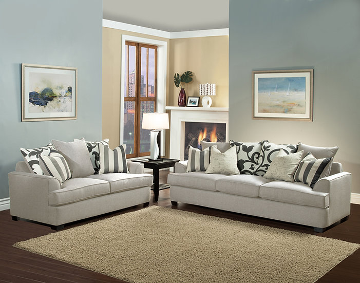 Jackie I Fabric Sofa Set
