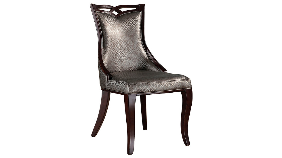 Dark Brown PU Dining Chair