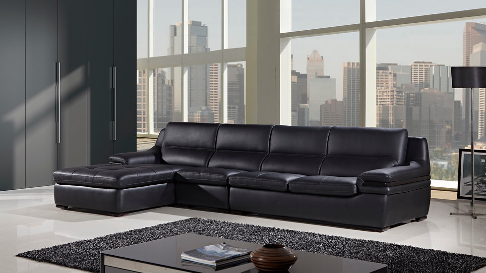 Royal Lane Leather Sectional