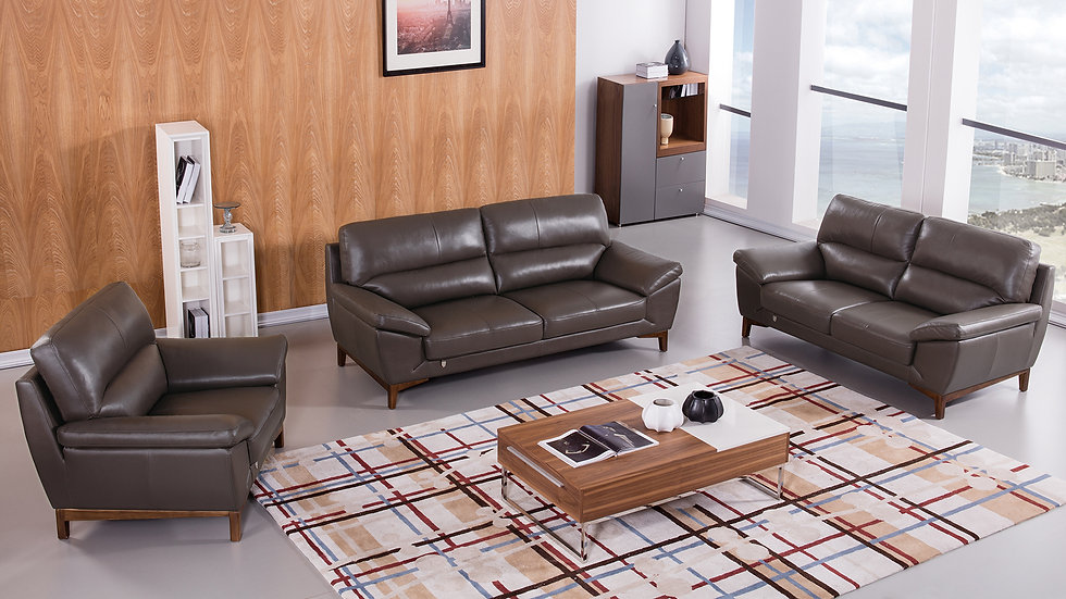 Gilden II Genuine Italian Leather Sofa Set