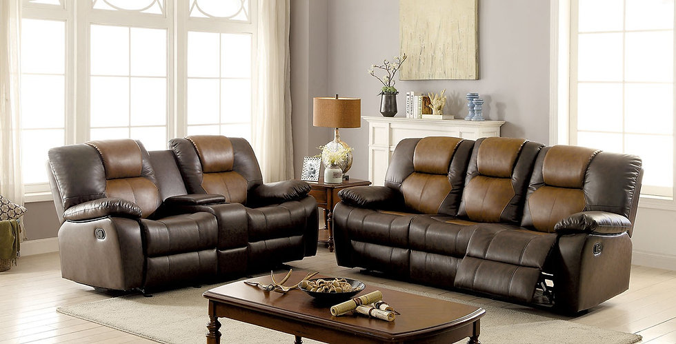 Boston Leather Sofa Set