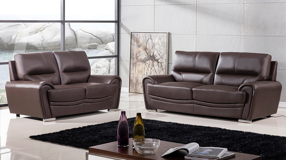 Kingward Genuine Leather Sofa Set