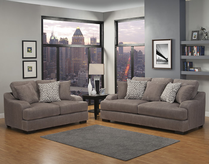 Points Peak III Fabric Sofa Set